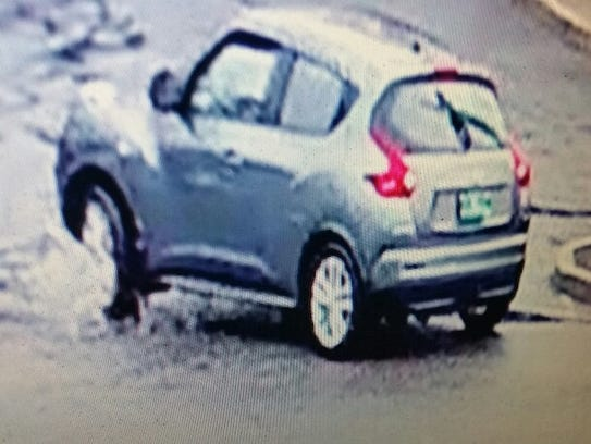 A gray Nissan Juke that authorities say was the getaway