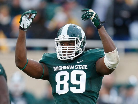 best service f60b8 7eda3 Shilique Calhoun planning B1G homecoming on Saturday