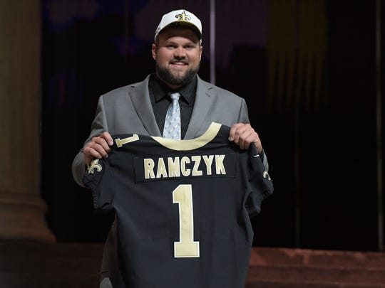 Ryan Ramczyk was selected as the No. 32 overall pick by the New Orleans Saints in the first round of the 2017 NFL Draft