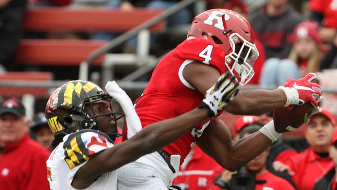 Leonte Carroo was known for his reliable hands at Rutgers and now the NFL Draft pick will try to earn the same reputation as a pro.