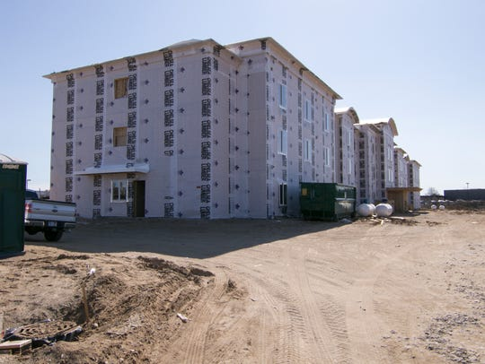 Construction of Candlewood Suites is well underway