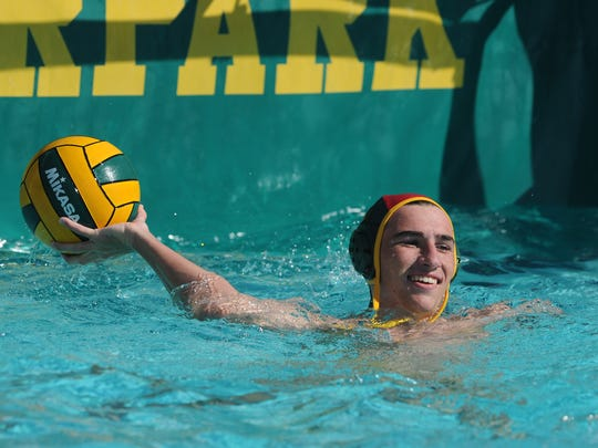 Moorpark High goalie Freddie Houghton has helped his team win back-to-back Coastal Canyon League water polo titles.