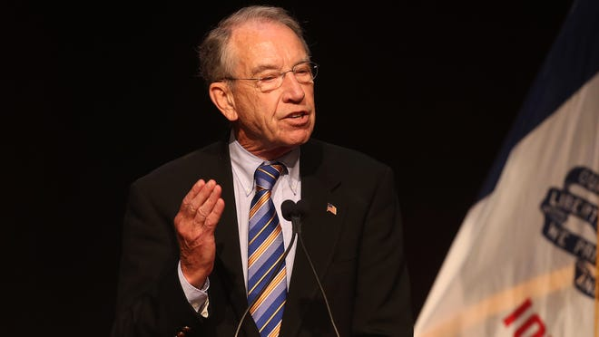 """Sen. Chuck Grassley, pictured in 2014, announced Wednesday that a congressional hearing set for April 15 will address """"the perverse incentives"""" of forfeiture."""