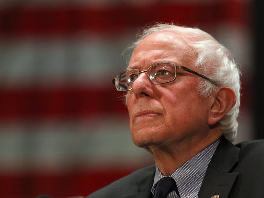 Democratic presidential candidate U.S. Sen. Bernie Sanders speaks at a campaign stop, n Scranton, Pennsylvania, on Thursday. He will hold a rally in Wilmington Saturday.