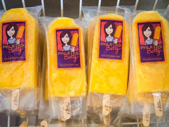Popsicles from Mexican popsicle shop, Paletas Betty,