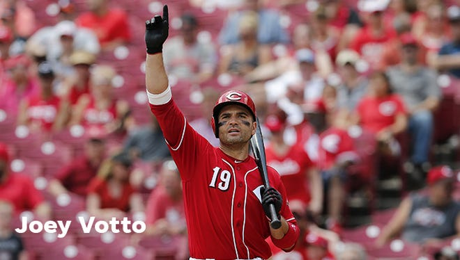 2.) Joey Votto: Votto's fifth on the team's WAR (Wins Above Replacement) list. Three of the players above him — Johnny Bench, Barry Larkin and Frank Robinson — are in the Hall of Fame. The other is Pete Rose. Votto's career on-base percentage (.428) and on-base plus slugging (.963) are tops in club history.
