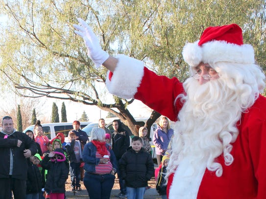 Over 400 children and their families greeted Santa