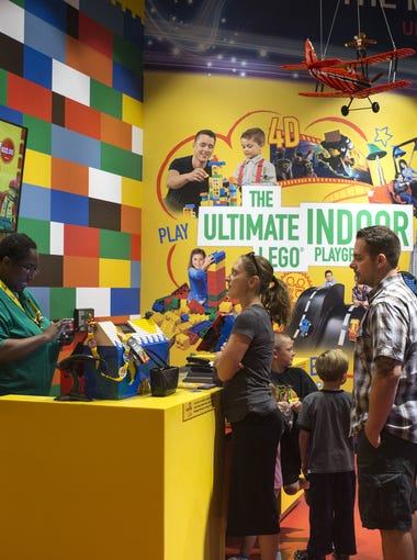 Customers check in April 22, 2016, at Legoland Discovery Center in Tempe.