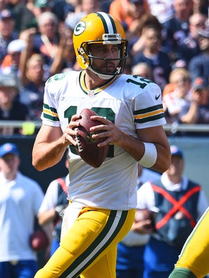 Aaron Rodgers improved to 11-3 in his career against the rival Bears.