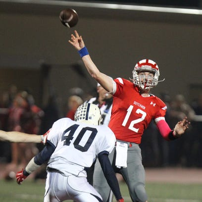 Tappan Zee's Liam Donohue passes under pressure from