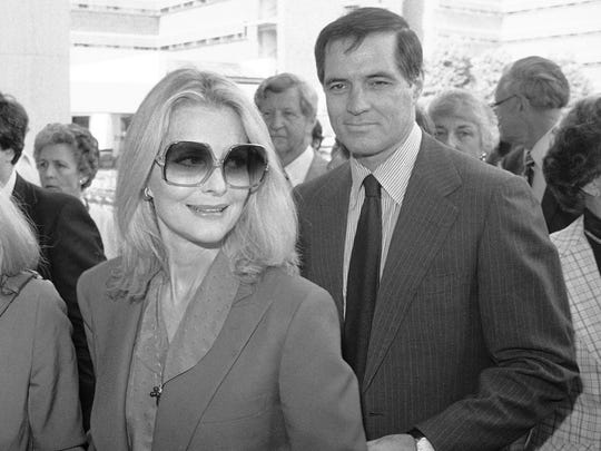John Gavin and his wife Constance in 1981.