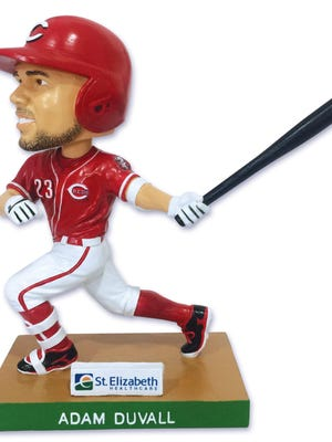 Adam Duvall bobblehead will be given away to the first 25,000 fans.