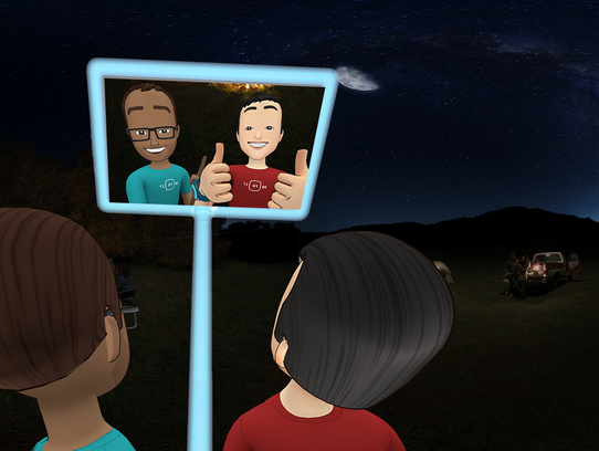 Facebook Spaces users can take selfies of themselves
