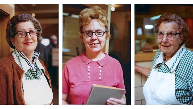 Tom Kutchera's portraits of workers at Empire Fish Co. in the 1960s include Eleanor Stocke (in pink). They will be on display at Milwaukee's Portrait Society Gallery.