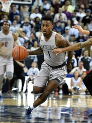 Nevada's Marcus Marshall, the Mountain West's leading scorer in all games this season, is tied for third with temmate Jordan Caroline in minutes played in Mountain West games at 35.4 a game.