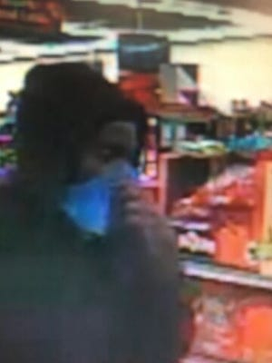 Still images taken from surveillance footage shows the person who tried to rob a Family Dollar in the Hollywood neighborhood.