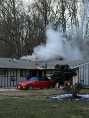 Fire struck a home on Cherry Hill Boulevard in Cherry