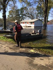The Caddo Parish Sheriff's office responded to flooding near Ferry Lake School Road