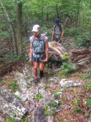 The Packing It Out Team found two old mattresses on the Appalachian Trail in Pennsylvania last year.