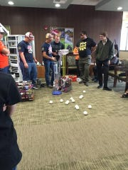The 2015 World Champion Sun River Robotics Team visited