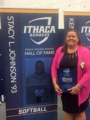Stacy Johnson joined the Ithaca College Athletic Hall of Fame in October of 2016.