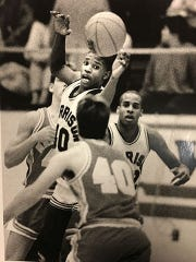 Calbert Cheaney, shown in his playing days at Harrison High, played at Indiana University from 1989 to  1993. The Evansville native remains the Big Ten's all-time leading scorer with 2,613 points.