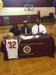 Florida High linebacker Cam Brown signed with Western Carolina.