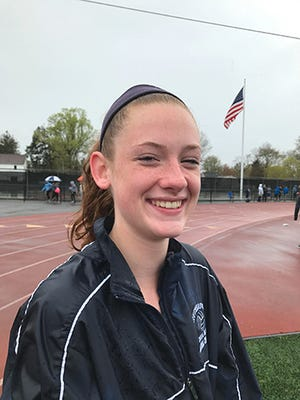 Rutherford freshman Jenna Rogers cleared 5-foot-8 in the high jump at the Jack Yockers Relays at River Dell.