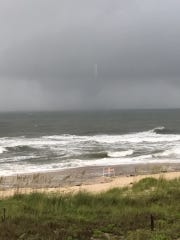 A waterspout was spotted off St. George Island Tuesday.