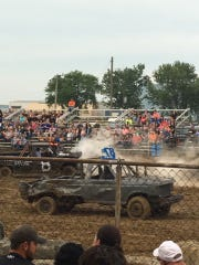 The derby was an intense fight this year as several cars and trucks went up in smoke like this one here.