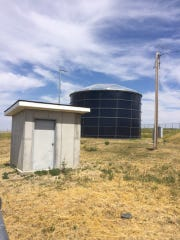 One of the three remaining operational water tanks within the New Town Water System on the Rocky Boy's Indian Reservation