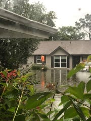 The home of former Fond du Lac resident Eva Graczyk  was flooded Sunday in Westbury, a community about seven miles outside Houston. She and her five children waded through chest-deep water for more than an hour to escape.