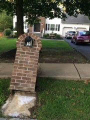 Submitted pictures show the Grazianos' mailbox after