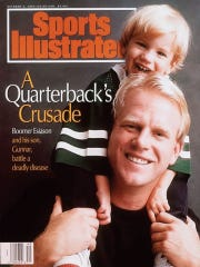 The cover story from the Oct. 4, 1993, edition of Sports Illustrated magazine was the inspiration for Gunnar Lewis' name. He's named after former NFL quarterback Boomer Esiason's son.