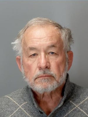 Booking photo of William Strampel, former Dean of the MSU College of Osteopathic Medicine. He was arraigned Tuesday, March 27, 2018 in 54-B District Court in East Lansing.