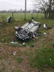 A Monday morning car crash in Eagleville sent one to Nashville for treatment.