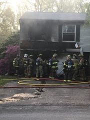 Firefighters responded to a blaze in the 400 block