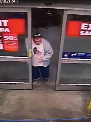 Suspect wanted for retail fraud at the Bloomfield Township Lowe's store.