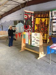 Handcrafted quilts on display at the 2017 Lincoln County fair bring color and shape to viewers.