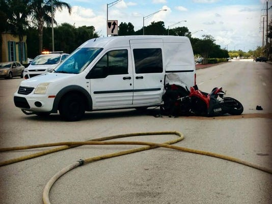 Motorcycle crash in Port St. Lucie