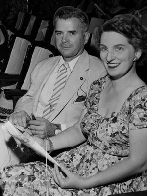 JULY 10, 1954: Mr. and Mrs. Louis Nippert.
