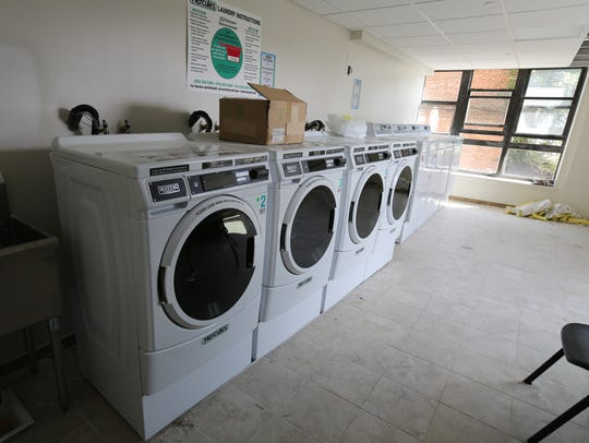 A laundry room in the nearly completed Grace Terrace