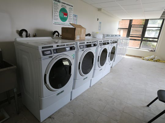 A laundry room in the nearly completed Grace Terrace senior apartments in Mount Vernon, Aug. 8, 2016.