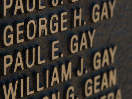 George Hubert Gay's name along with his brothers names