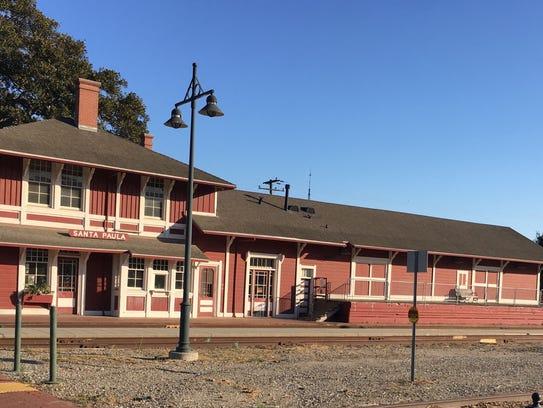 Santa Paula, near the railroad tracks.