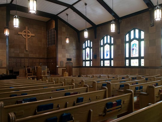 The sanctuary at Fourth United Presbyterian Church.