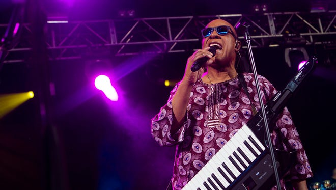 Stevie Wonder performed at the Marcus Amphitheater at Summerfest on June 27.
