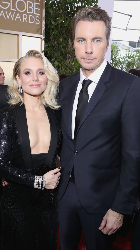 Kristen Bell and Dax Shepard at the 74th annual Golden
