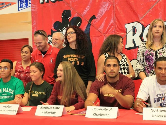Several North Fort Myers High athletes signed Thursday.