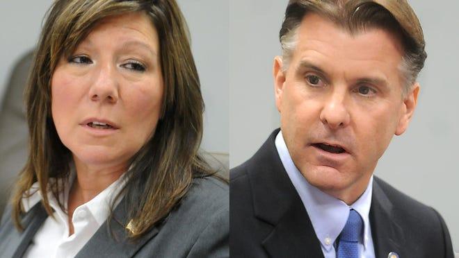 Sen. Sue Serino, R-Hyde Park, left, and Democrat Terry Gipson, Rhinebeck.